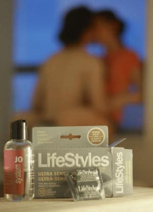 image of lube and condoms