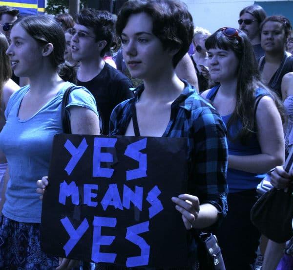 Yes Means Yes at Portland Slut Walk, 2011