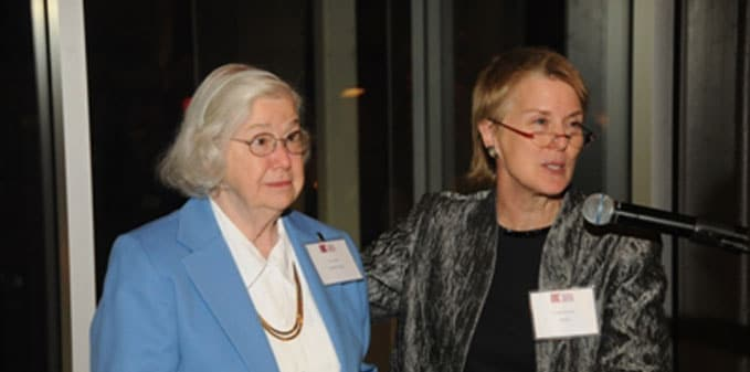 Doris Haire with Cindy Pearson