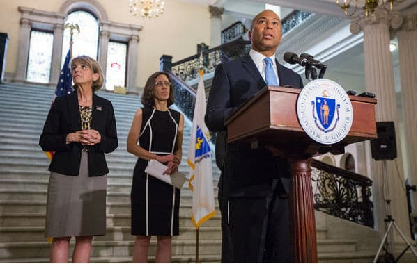 Gov. Patrick gives update on legislative efforts to ensure safe clinic access