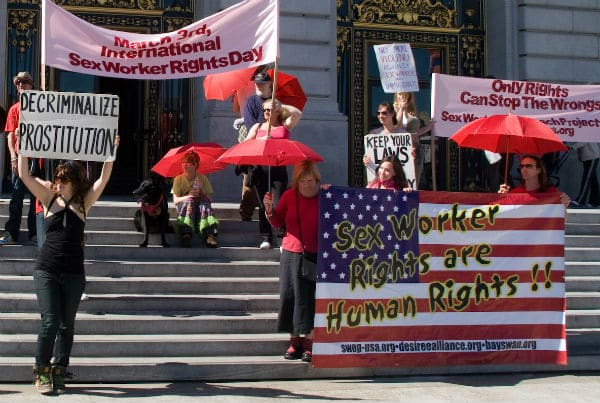 Sex workers rally outside San Francisco City Hall