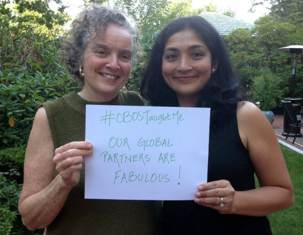 Sally Whelan and Ayesha Chatterjee #OBOSTaughtMe