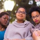 three young African-American women