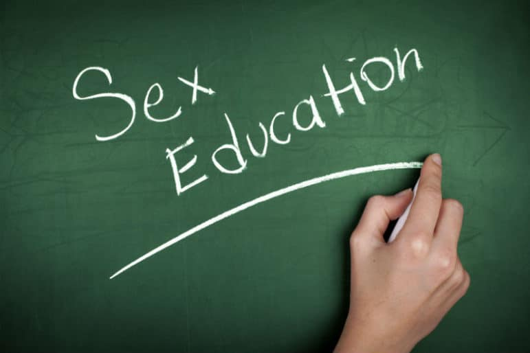 "The words ""Sex Education"" written on a black board"