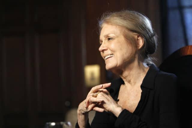 Closeup of Gloria Steinem