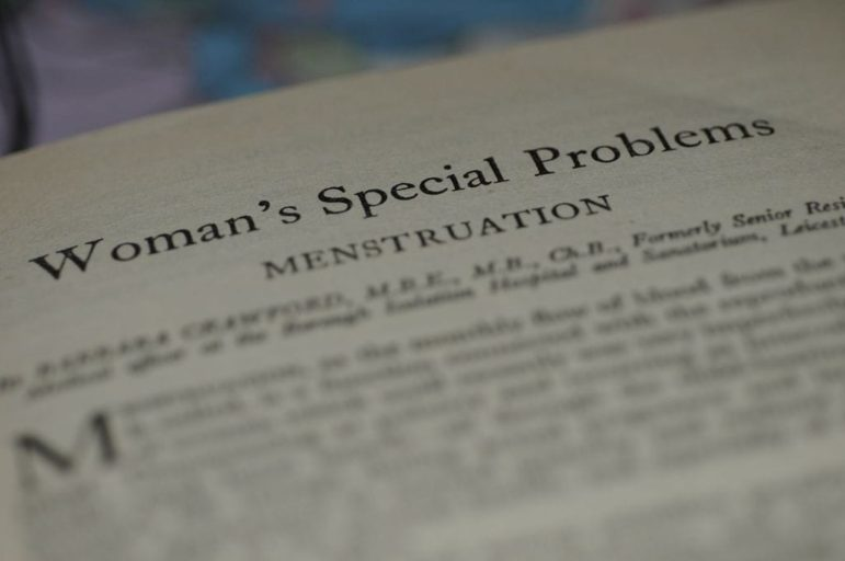 """photo of a book page on """"women's special problems"""""""