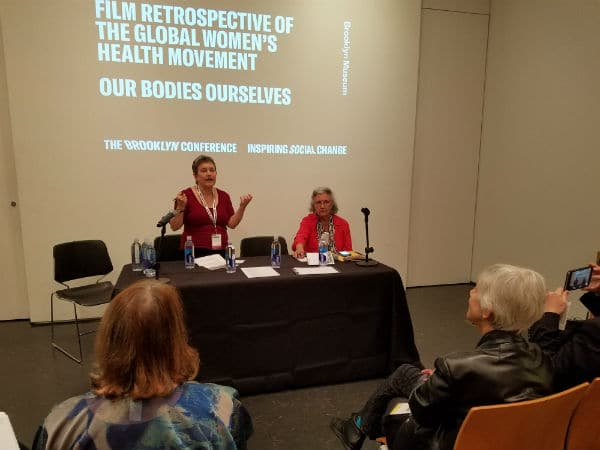 Norma Swenson co-leading a discussion on three classic documentaries on reproductive health activism and the global women's health movement