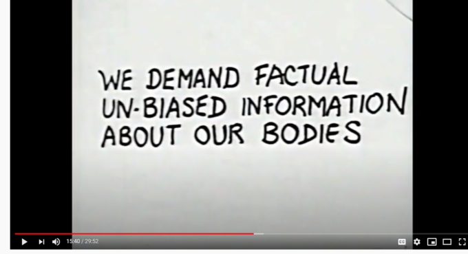 screenshot from 1970 film on abortion and women's rights